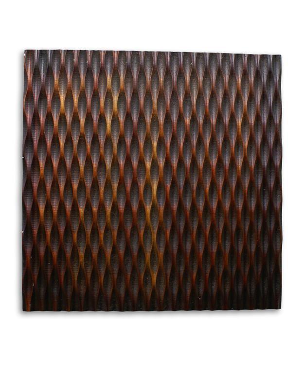 Screen Gems SGWA-84 Metallic Ridge Brown Wall Art