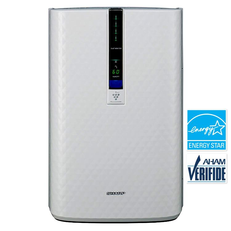 Sharp Triple Action Plasmacluster Air Purifier with Humidifying Function (254 sq. ft.)