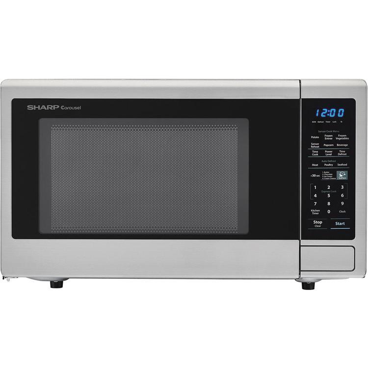 SHARP SMC1842CS Carousel 1.8 Cu. Ft. 1100W Countertop Microwave Oven