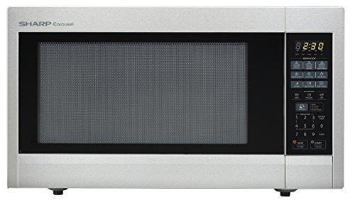 SHARP ZR651ZS Carousel 2.2 Cu. Ft. 1200W Countertop Microwave Oven in Stainless Steel (ISTA 6 Packaging)