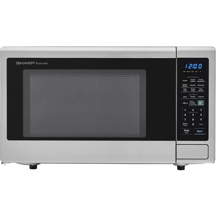 Sharp Carousel 1.8 Cu. Ft. 1100W Countertop Microwave Oven in Stainless Steel (ISTA 6 Packaging)