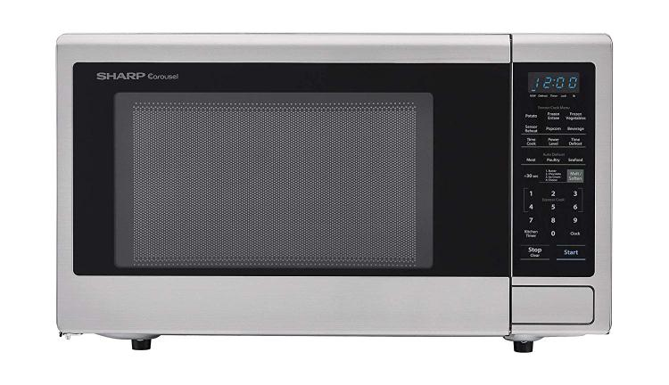 Sharp Carousel 2.2 Cu. Ft. 1200W Countertop Microwave Oven in Stainless Steel (ISTA 6 Packaging)