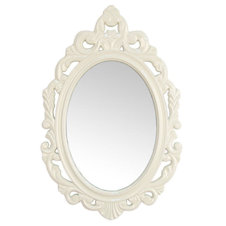 Stratton Home Decor White Baroque Mirror 47 16 Ojcommerce