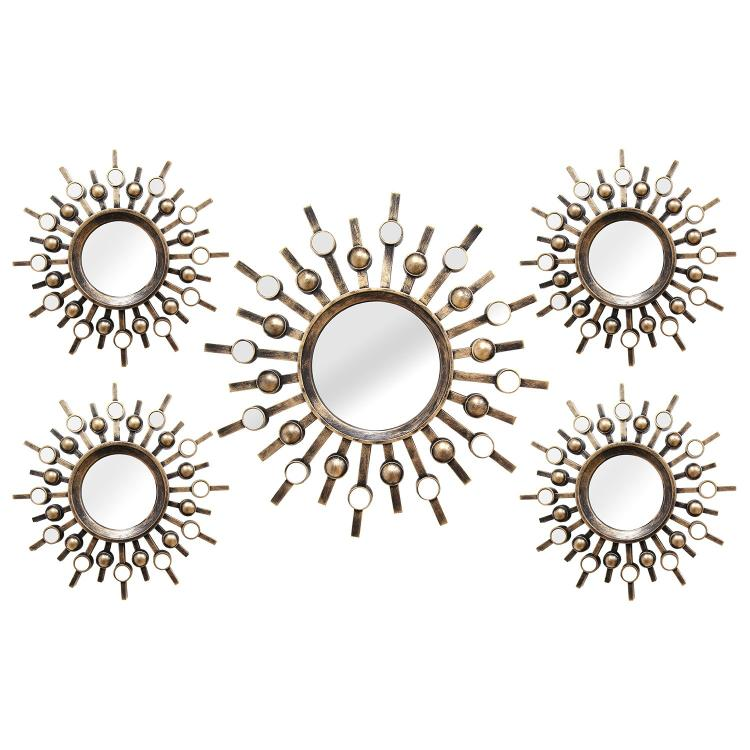 Stratton Home Décor Burst Wall Mirrors - Set of 5