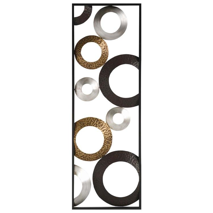Stratton Home Decor Metallic Geometric Panel Wall Decor