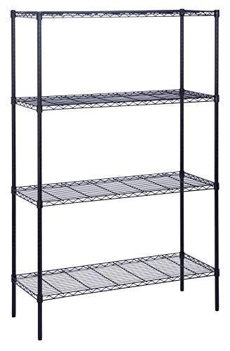 Honey Can Do Shf-05225 Shelf 4Tier Blk 350# [Item # SHF-05225A]