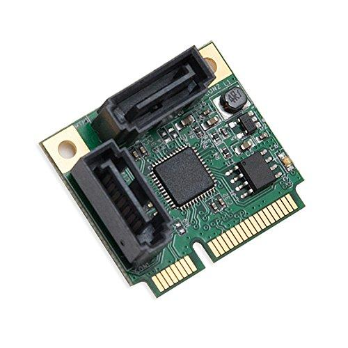 Half Height 2 Port SATA III RAID Mini PCI-e 2.0 Card