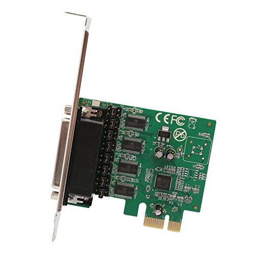 4 Port DB9 Serial (RS-232) PCI-Express x1 Card with Fan-Out Cable, Asix99100 Chipset