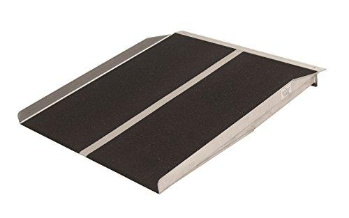 4-ft x 30-in Portable Solid Wheelchair Ramp 800 lb. Weight Capacity, Maximum 8-in Rise