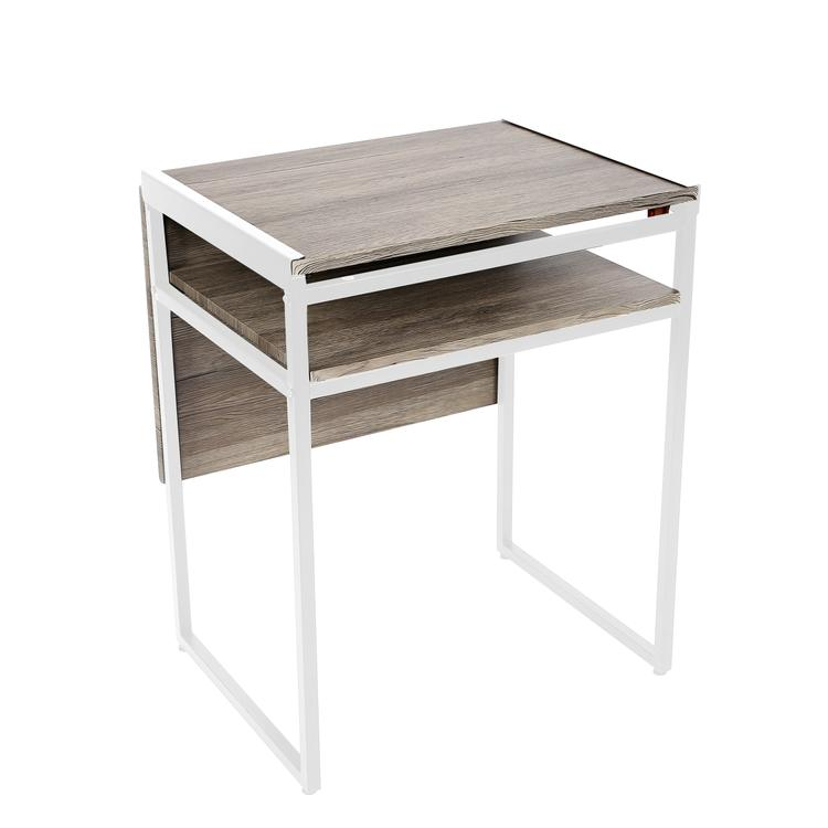 SpaceMaster Small Space Desk and Dining Table in White
