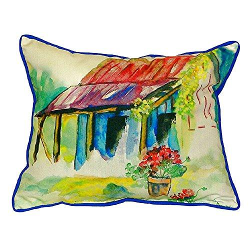 Barn & Geranium Small Indoor/Outdoor Pillow 11x14