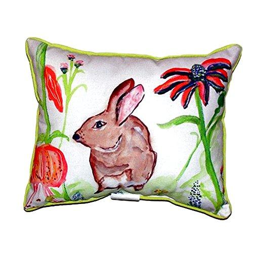 Brown Rabbit Left Small Indoor/Outdoor Pillow 11x14