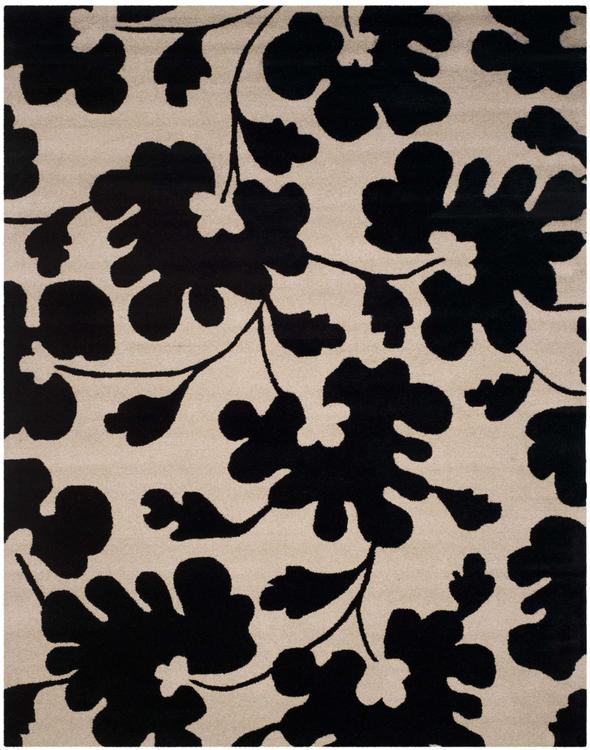Soho Beige/Black Large Rectangle Rug