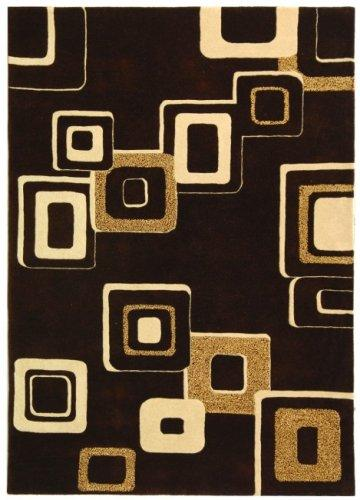 Contemporary Rug - Soho Wool/Viscose Pile -Brown/Beige