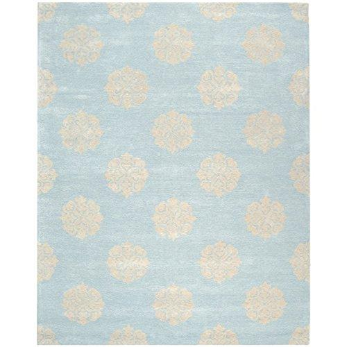 Contemporary Rug - Soho Wool/Viscose -Turquoise/Yellow