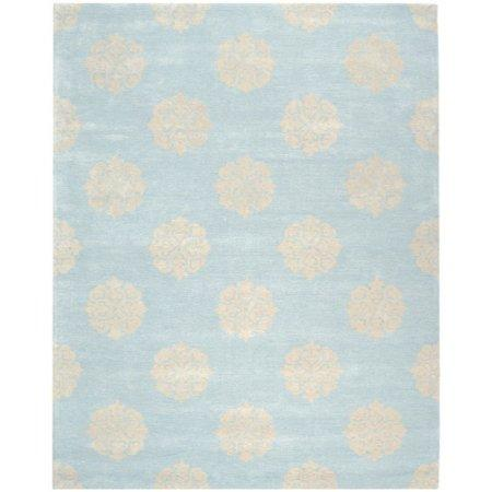 Contemporary Rug - Soho Wool/Viscose -Turquoise/Yellow