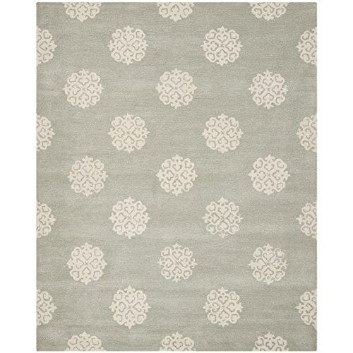 Contemporary Rug - Soho Wool/Viscose -Grey/Ivory