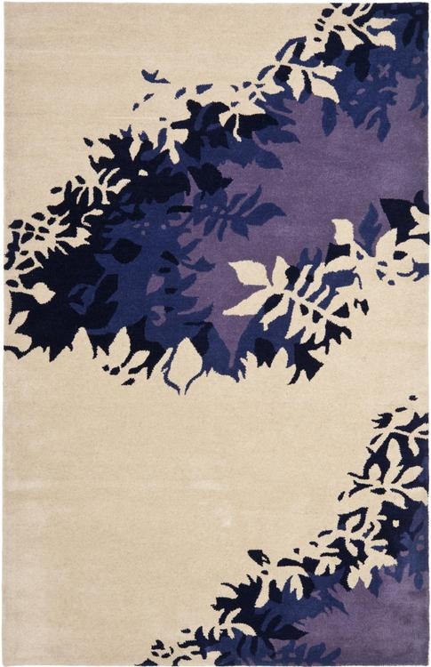 Contemporary Rug - Soho -Beige/Purple