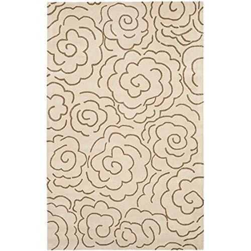 Contemporary Rug - Soho Wool/Viscose Pile -Beige/Multi Style-F [Item # SOH812E-8]