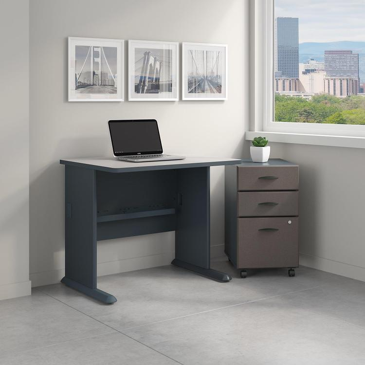 Series A 36W Desk With Mobile File Cabinet