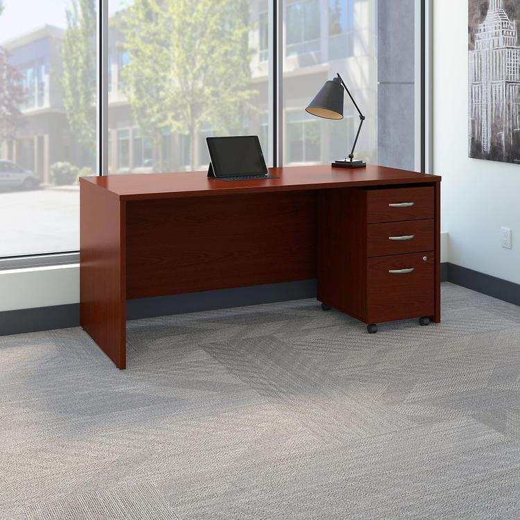 Series C Office Desk With Mobile File Cabinet