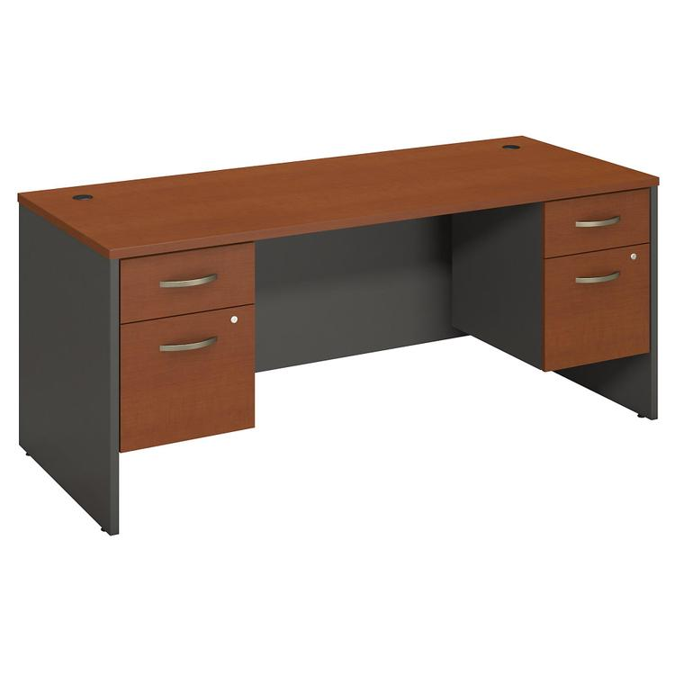 Series C Desk Shell With (2) 3/4 Pedestals
