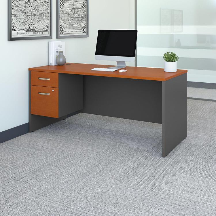 Bush Furniture Series C Office Desk With 3/4 Pedestal