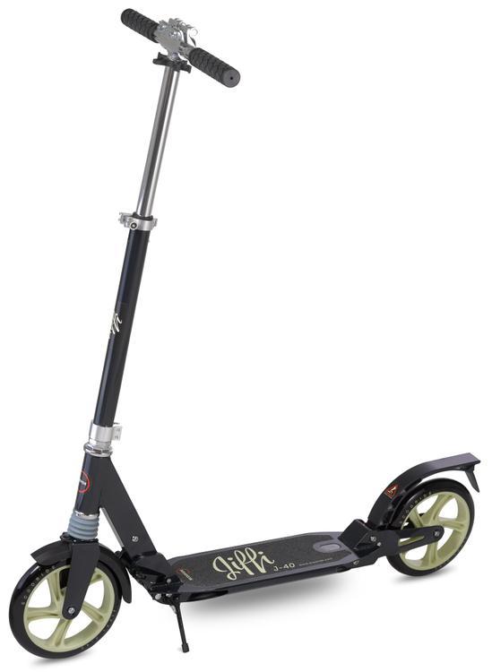 Scooride Jiffi J-40 Premium Folding Adult Kick Scooter- Black