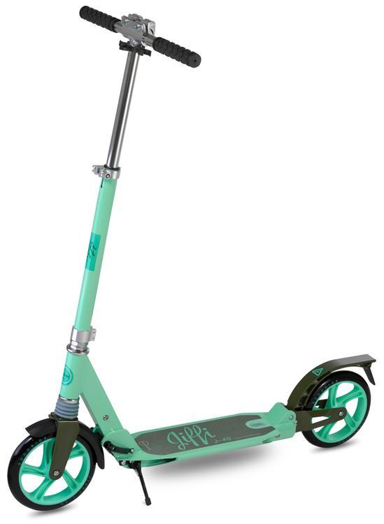 Scooride Jiffi J-40 Premium Folding Adult Kick Scooter- Green