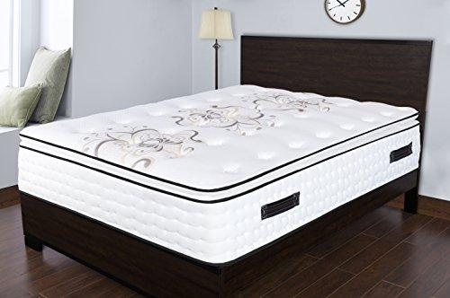 Spectra Orthopedic Mattress  Premium 14.5 Inch plush gel & convoluted memory foam knife edge pillow-top pocketed coil mattress