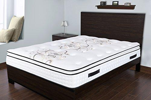 Spectra Orthopedic Mattress  Premium 12.5 Inch medium plush memory foam & gel quilted-top pocketed coil mattress