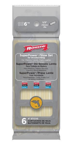 Arrow Fastener Ss6 Glue Stk Slow Set 4