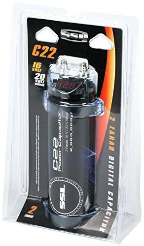 SOUNDSTORM C22 2-Farad Capacitor with Digital Display (Black Finish)