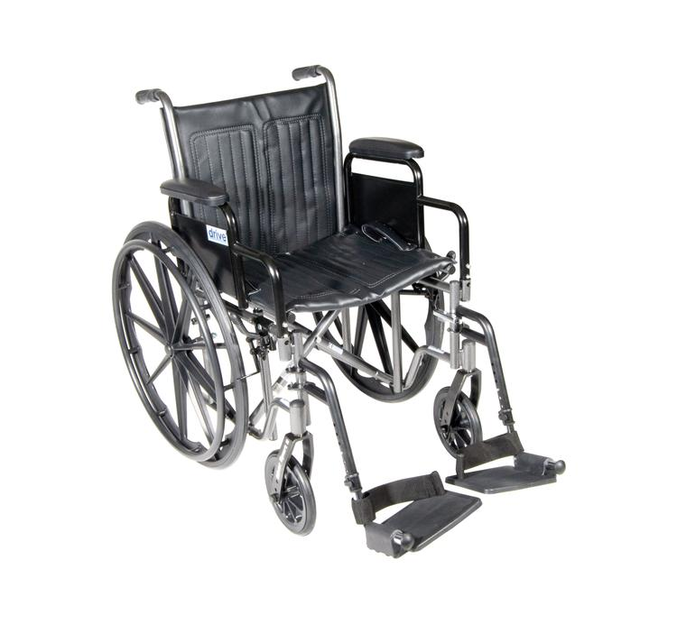 Silver Sport 2 Wheelchair, Detachable Desk Arms, Swing away Footrests, 20