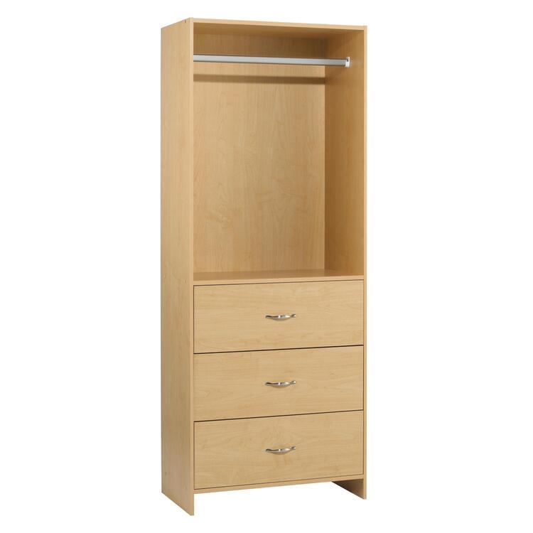 3 Drawer Closet Organizer with Rod