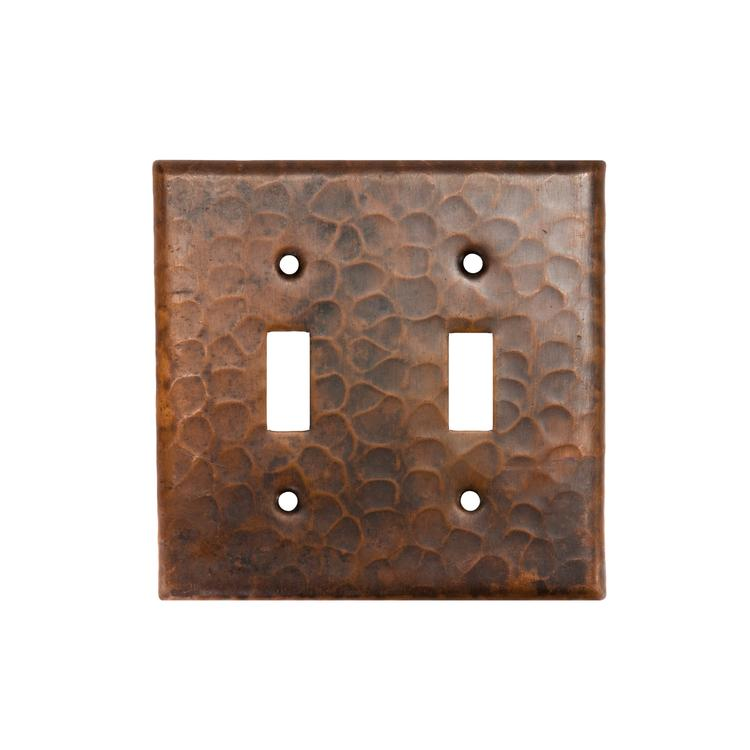 Premier Copper ProductsST2 Copper Switchplate Double Toggle Switch Cover