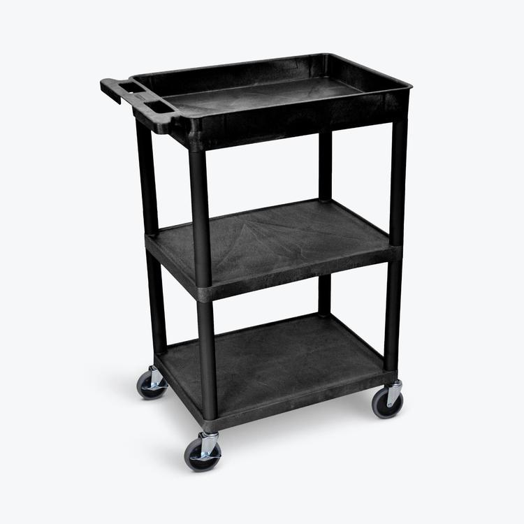 Luxor Tub Top and Flat Middle/Bottom Shelf Cart