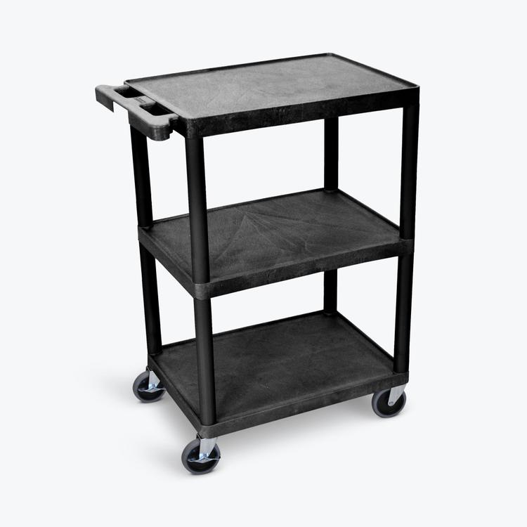 Luxor Flat-Shelf Cart - Three Shelves
