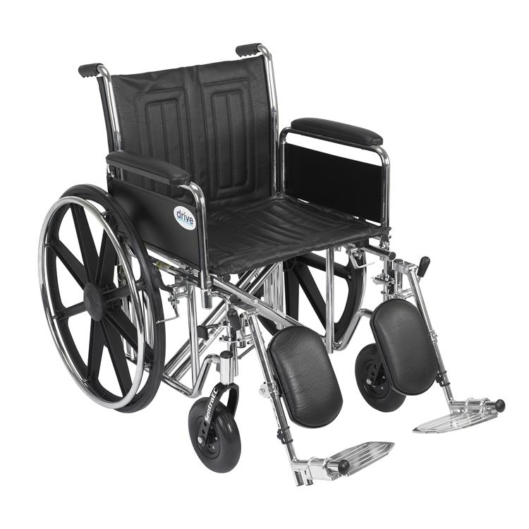 Drive Medical Sentra EC Heavy Duty Wheelchair [Item # STD20ECDFAHD-ELR]