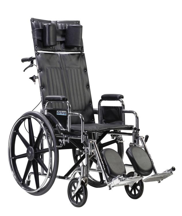 Sentra Reclining Wheelchair, Detachable Desk Arms, 22