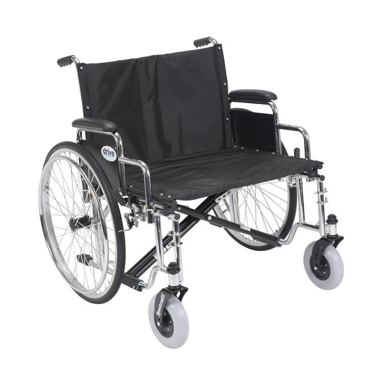Sentra EC Heavy Duty Extra Wide Wheelchair, Detachable Full Arms, 30