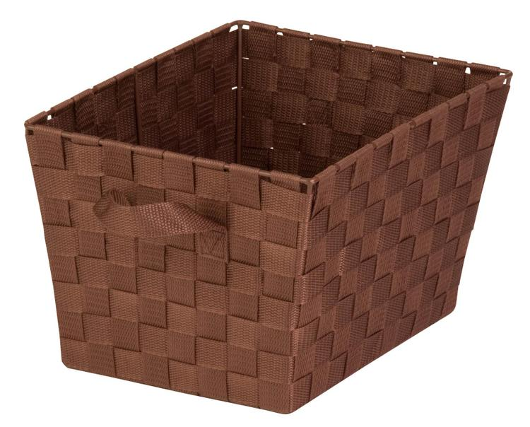 Honey Can Do Sto-02116 Woven Tote Brown Lg