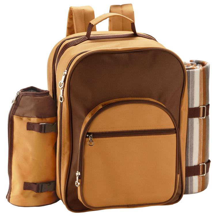 National Tree Backpack Style 4-Person Picnic Kit Cooler