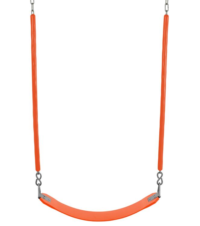 Swingan - Belt Swing For All Ages - Soft Grip Chain - Fully Assembled - Orange