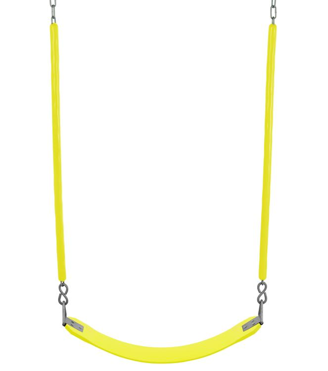 Swingan - Belt Swing For All Ages - Soft Grip Chain - Fully Assembled - Yellow