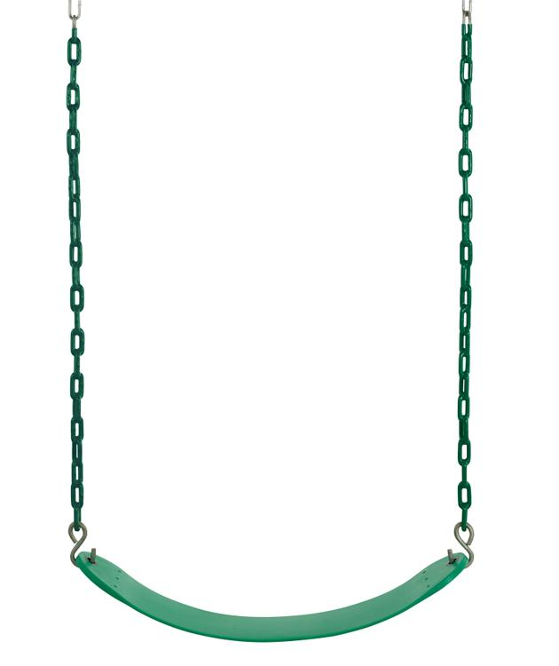 Swingan - Belt Swing For All Ages - Vinyl Coated Chain - Green
