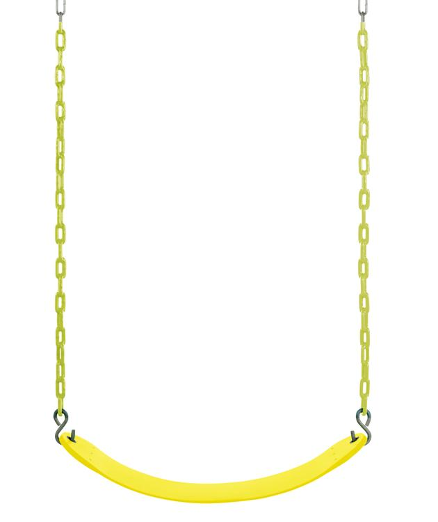 Swingan - Belt Swing For All Ages - Vinyl Coated Chain - Yellow
