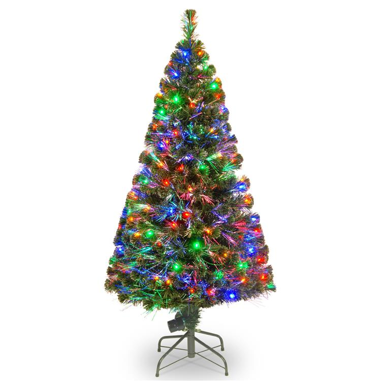 National Tree Fiber Optic Evergreen Tree with LED Lights [Item # SZE7-147-60]