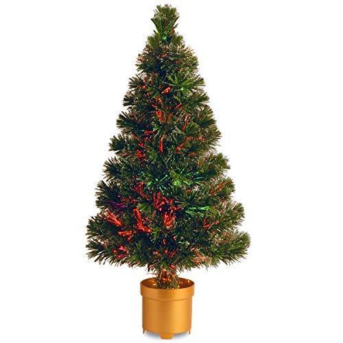 National Tree Fiber Optic Evergreen Flocked Tree [Item # SZEF7-100L-48]