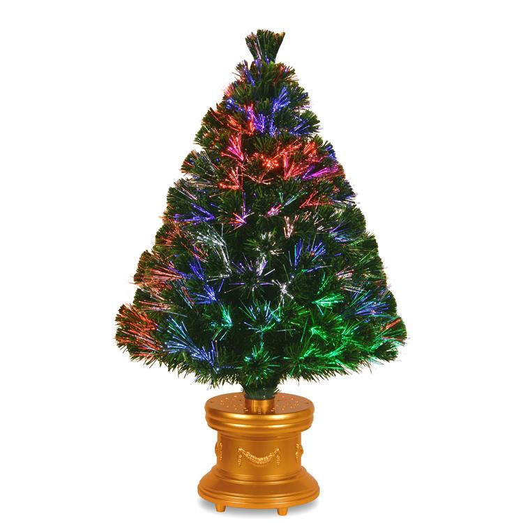 National Tree Fiber Optic Fireworks Evergreen Tree